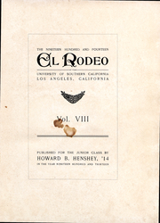Page 3, 1914 Edition, University of Southern California - El Rodeo Yearbook (Los Angeles, CA) online yearbook collection