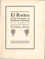Page 3, 1915 Edition, University of Southern California - El Rodeo Yearbook (Los Angeles, CA) online yearbook collection