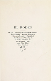 Page 5, 1920 Edition, University of Southern California - El Rodeo Yearbook (Los Angeles, CA) online yearbook collection