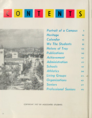 Page 6, 1957 Edition, University of Southern California - El Rodeo Yearbook (Los Angeles, CA) online yearbook collection