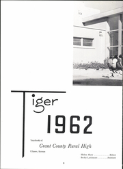 Page 6, 1962 Edition, Grant County Rural High School - Tiger Yearbook (Ulysses, KS) online yearbook collection