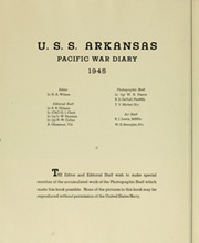 Page 8, 1945 Edition, Arkansas (BB 33) - Naval Cruise Book online yearbook collection