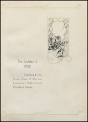 Page 5, 1930 Edition, Sherman Community High School - Golden S Yearbook (Goodland, KS) online yearbook collection