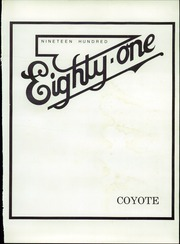 Page 5, 1981 Edition, Weskan High School - Coyote Yearbook (Weskan, KS) online yearbook collection