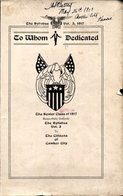 Page 1, 1917 Edition, Cawker City High School - Syllabus Yearbook (Cawker City, KS) online yearbook collection