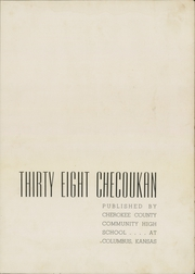 Page 5, 1938 Edition, Cherokee County Community High School - Checoukan (Columbus, KS) online yearbook collection