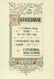 Page 7, 1927 Edition, Cathedral High School - Cathedral Yearbook (Wichita, KS) online yearbook collection