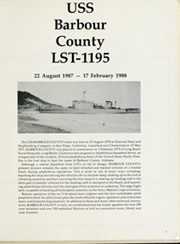 Page 5, 1988 Edition, Barbour County (LST 1195) - Naval Cruise Book online yearbook collection