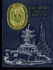 1994 Edition, Barry (DDG 52) - Naval Cruise Book