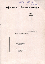 Page 5, 1947 Edition, Glen Elder High School - Gold and Black Yearbook (Glen Elder, KS) online yearbook collection