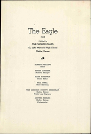 Page 5, 1936 Edition, St John High School - Eagle Yearbook (Olathe, KS) online yearbook collection