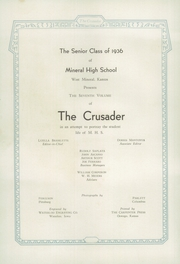 Page 6, 1936 Edition, Mineral Rural High School - Crusader Yearbook (West Mineral, KS) online yearbook collection