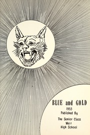 Page 7, 1953 Edition, Weir High School - Blue and Gold Yearbook (Weir, KS) online yearbook collection