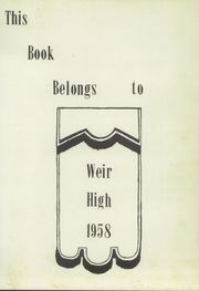 Page 7, 1958 Edition, Weir High School - Blue and Gold Yearbook (Weir, KS) online yearbook collection