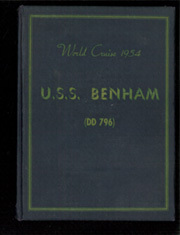 1954 Edition, Benham (DD 796) - Naval Cruise Book