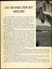 Page 6, 1961 Edition, Benner (DD 807) - Naval Cruise Book online yearbook collection