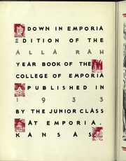 Page 10, 1933 Edition, College of Emporia - Alla Rah Yearbook (Emporia, KS) online yearbook collection