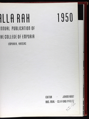 Page 6, 1950 Edition, College of Emporia - Alla Rah Yearbook (Emporia, KS) online yearbook collection