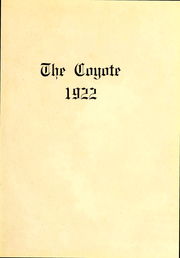 Page 3, 1922 Edition, Kansas Wesleyan University - Coyote Yearbook (Salina, KS) online yearbook collection