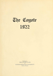 Page 5, 1922 Edition, Kansas Wesleyan University - Coyote Yearbook (Salina, KS) online yearbook collection