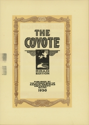 Page 7, 1930 Edition, Kansas Wesleyan University - Coyote Yearbook (Salina, KS) online yearbook collection