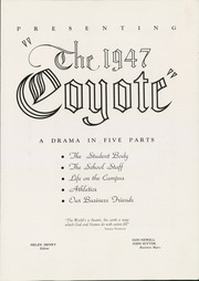 Page 7, 1947 Edition, Kansas Wesleyan University - Coyote Yearbook (Salina, KS) online yearbook collection