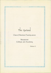 Page 5, 1927 Edition, Marymount College - Garland Yearbook (Salina, KS) online yearbook collection