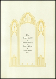 Page 7, 1929 Edition, Hesston College - Lark Yearbook (Hesston, KS) online yearbook collection