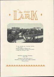 Page 9, 1932 Edition, Hesston College - Lark Yearbook (Hesston, KS) online yearbook collection