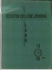 Page 1, 1936 Edition, Hesston College - Lark Yearbook (Hesston, KS) online yearbook collection