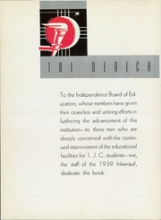 Page 10, 1939 Edition, Independence Junior College - Inkanquil Yearbook (Independence, KS) online yearbook collection