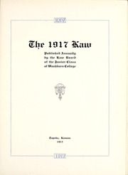Page 7, 1917 Edition, Washburn University - Kaw Yearbook (Topeka, KS) online yearbook collection