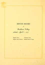 Page 12, 1918 Edition, Washburn University - Kaw Yearbook (Topeka, KS) online yearbook collection