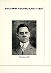 Page 15, 1919 Edition, Washburn University - Kaw Yearbook (Topeka, KS) online yearbook collection