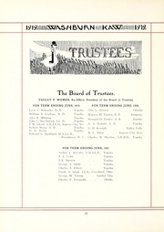 Page 16, 1919 Edition, Washburn University - Kaw Yearbook (Topeka, KS) online yearbook collection