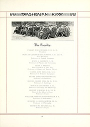 Page 17, 1919 Edition, Washburn University - Kaw Yearbook (Topeka, KS) online yearbook collection