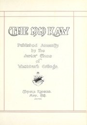 Page 7, 1919 Edition, Washburn University - Kaw Yearbook (Topeka, KS) online yearbook collection