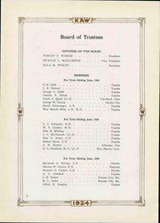 Page 14, 1924 Edition, Washburn University - Kaw Yearbook (Topeka, KS) online yearbook collection