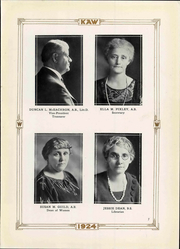 Page 15, 1924 Edition, Washburn University - Kaw Yearbook (Topeka, KS) online yearbook collection