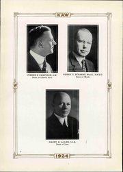 Page 16, 1924 Edition, Washburn University - Kaw Yearbook (Topeka, KS) online yearbook collection