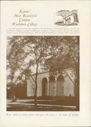 Page 13, 1929 Edition, Washburn University - Kaw Yearbook (Topeka, KS) online yearbook collection