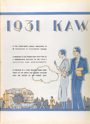Page 9, 1931 Edition, Washburn University - Kaw Yearbook (Topeka, KS) online yearbook collection