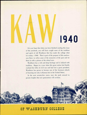 Page 11, 1940 Edition, Washburn University - Kaw Yearbook (Topeka, KS) online yearbook collection