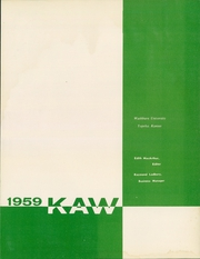 Page 5, 1959 Edition, Washburn University - Kaw Yearbook (Topeka, KS) online yearbook collection