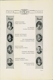 Page 17, 1920 Edition, McPherson College - Quadrangle Yearbook (McPherson, KS) online yearbook collection