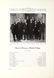 Page 14, 1917 Edition, Bethel College - Graymaroon Yearbook (North Newton, KS) online yearbook collection
