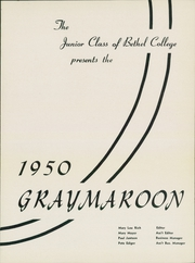 Page 5, 1950 Edition, Bethel College - Graymaroon Yearbook (North Newton, KS) online yearbook collection