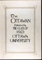 Page 8, 1920 Edition, Ottawa University - Ottawan Yearbook (Ottawa, KS) online yearbook collection