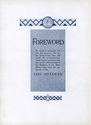 Page 7, 1925 Edition, Ottawa University - Ottawan Yearbook (Ottawa, KS) online yearbook collection