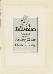 Page 5, 1924 Edition, Friends University - Talisman Yearbook (Wichita, KS) online yearbook collection